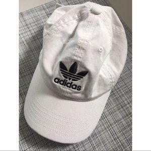 Adidas relaxed strapback baseball hat white
